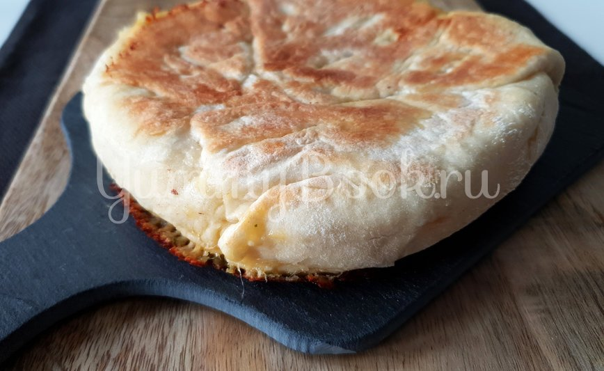 Ленивый Хачапури на сковороде - шаг 10