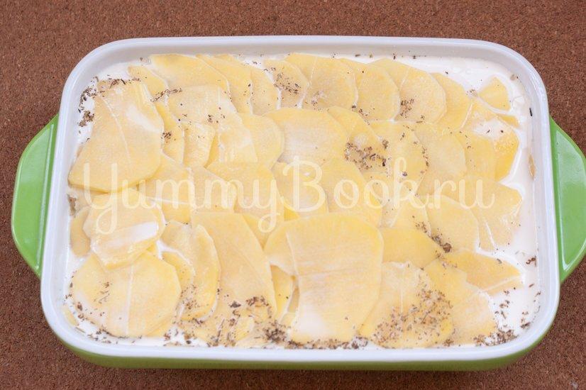 Картофельная запеканка с сёмгой - шаг 4