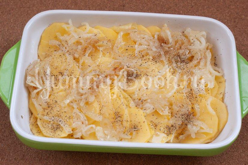 Картофельная запеканка с сёмгой - шаг 3