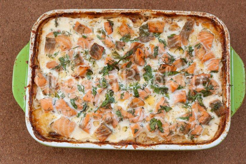Картофельная запеканка с сёмгой - шаг 10