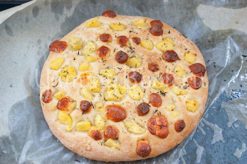 Фокачча с картофелем и сыром - шаг 8