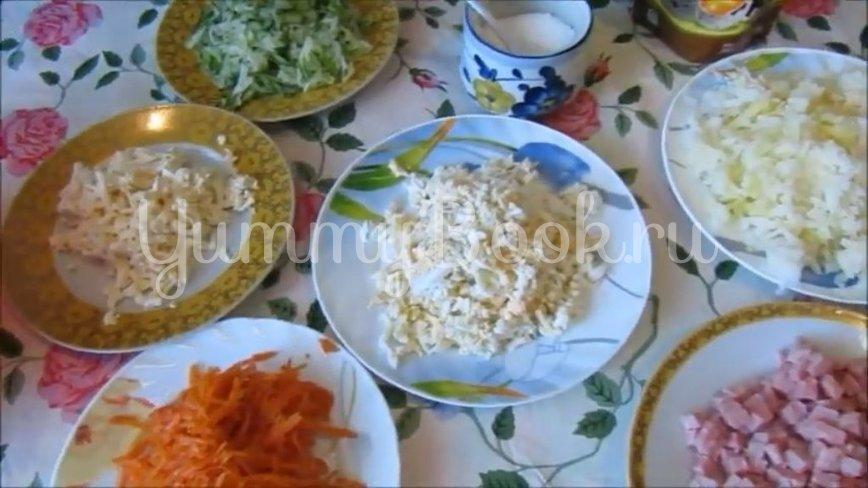 Салат с ветчиной и морковью по-корейски - шаг 2