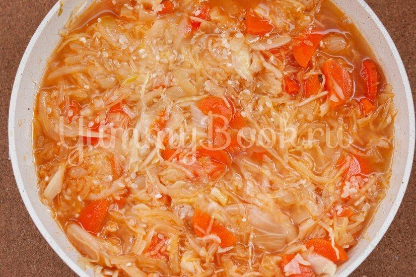 Лаханоризо - тушеная капуста с рисом - шаг 5