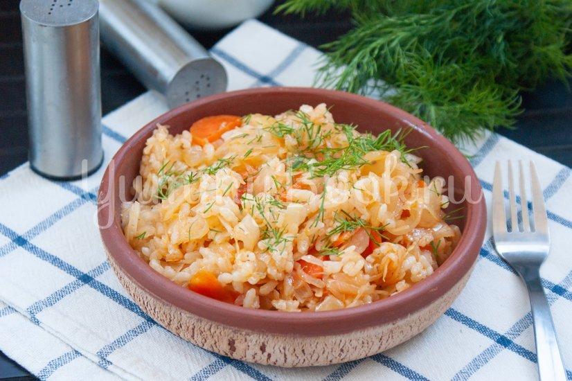 Лаханоризо - тушеная капуста с рисом - шаг 7