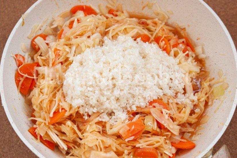 Лаханоризо - тушеная капуста с рисом - шаг 4