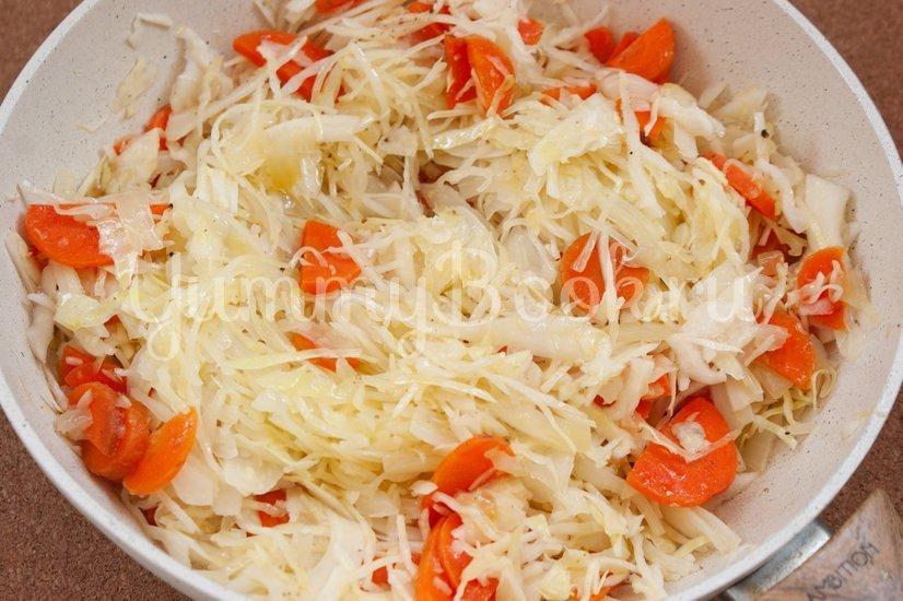 Лаханоризо - тушеная капуста с рисом - шаг 2