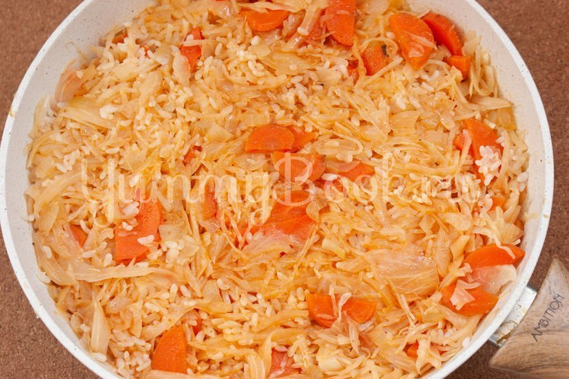 Лаханоризо - тушеная капуста с рисом - шаг 6