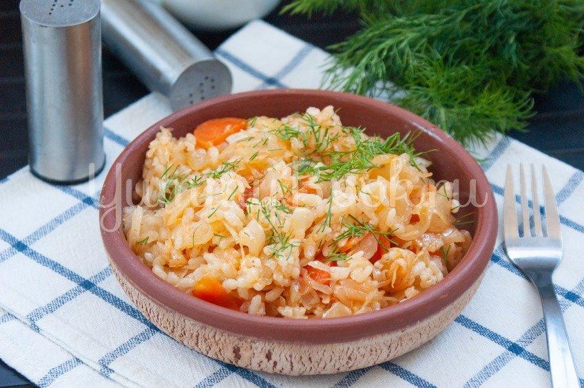 Лаханоризо - тушеная капуста с рисом