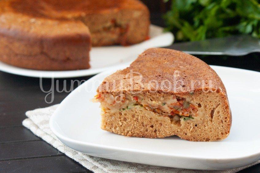 Пирог с капустой на кефире в мультиварке