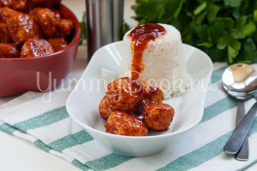 Куриные фрикадельки в медовом соусе - шаг 9