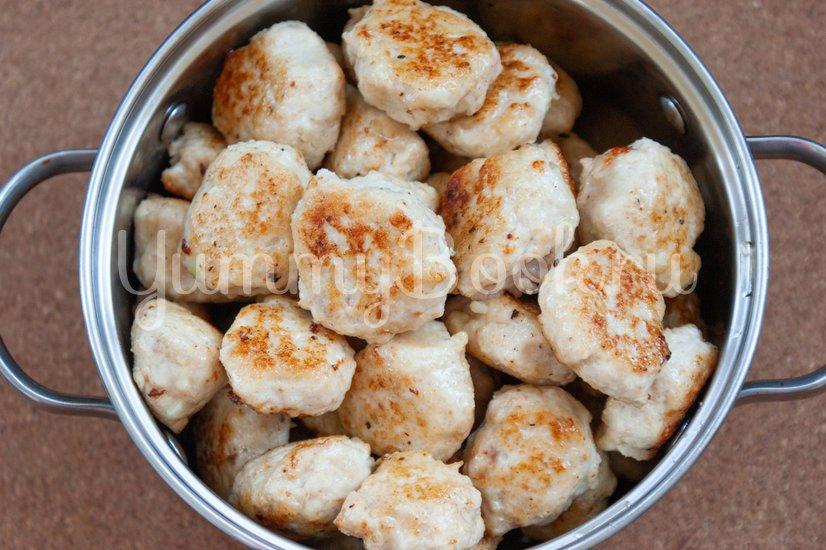 Куриные фрикадельки в медовом соусе - шаг 5