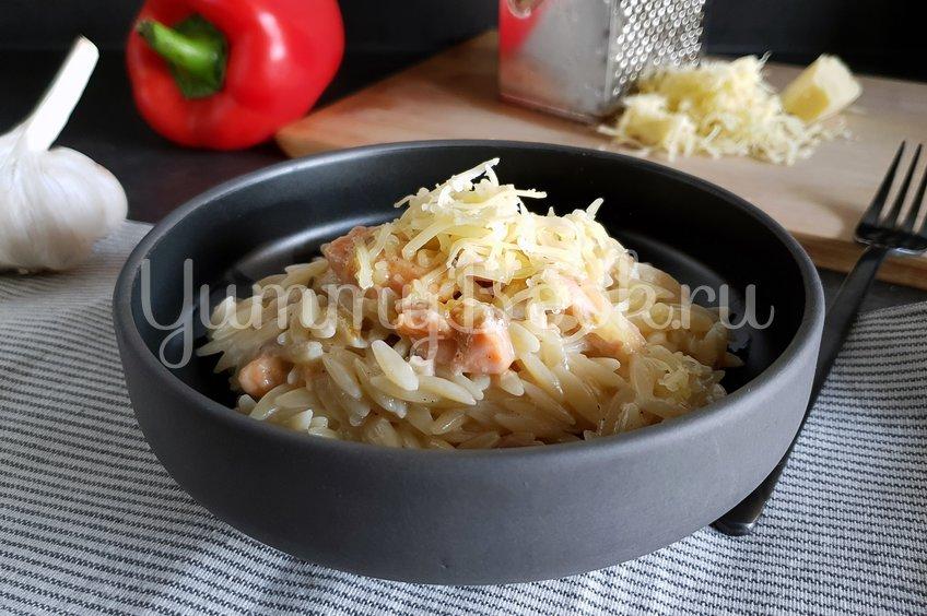 Сливочная паста с лососем