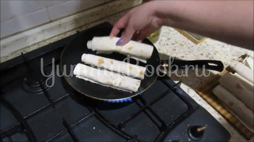 Горячая закуска из лаваша с мясом и овощами - шаг 4