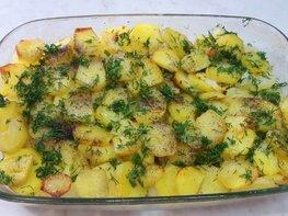 Картофельная запеканка со сливочным маслом