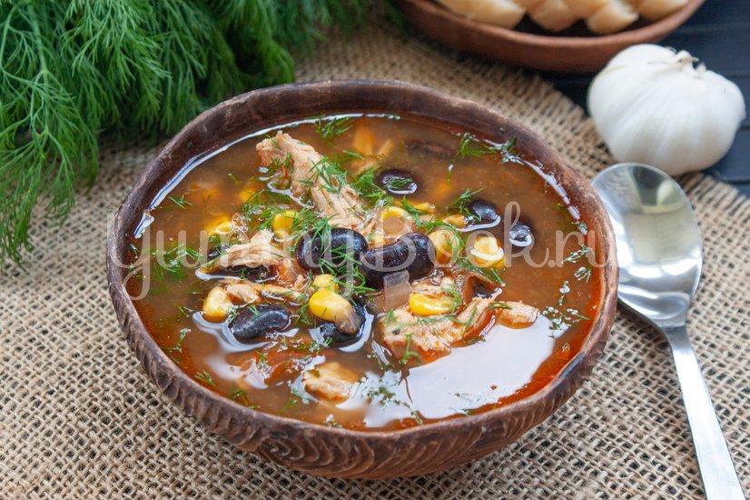 Мексиканский суп с фасолью и кукурузой - шаг 5