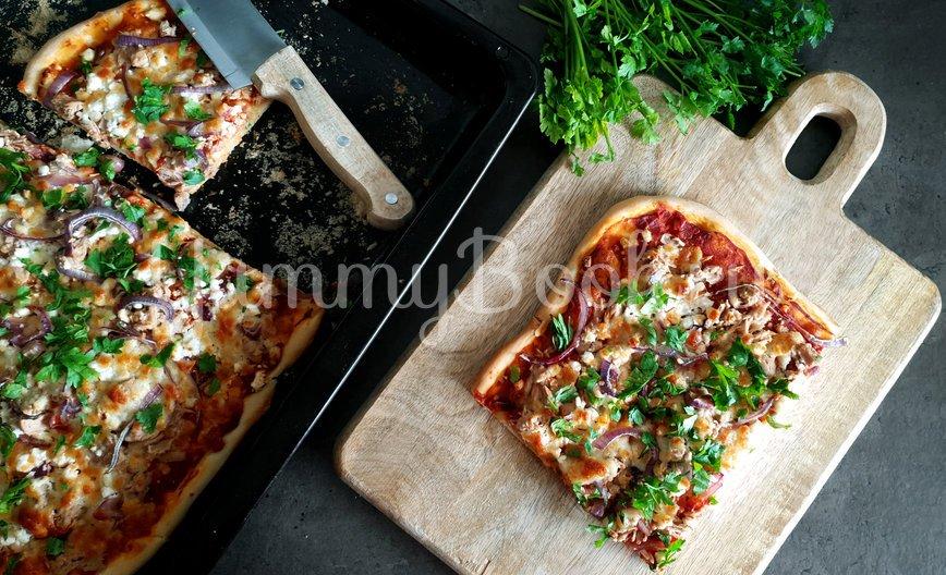 Пицца с тунцом и козьим сыром - шаг 9