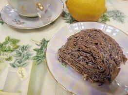 Блинный десерт с заварным кремом