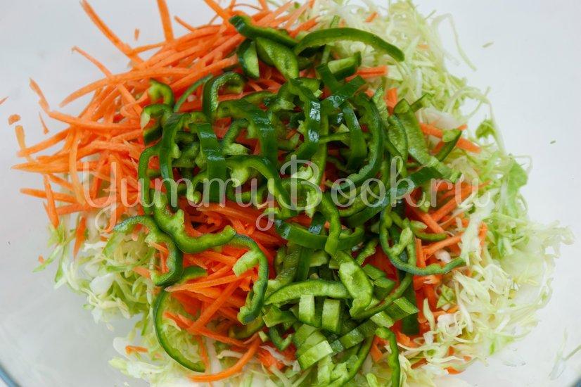 Острый овощной салат - шаг 3