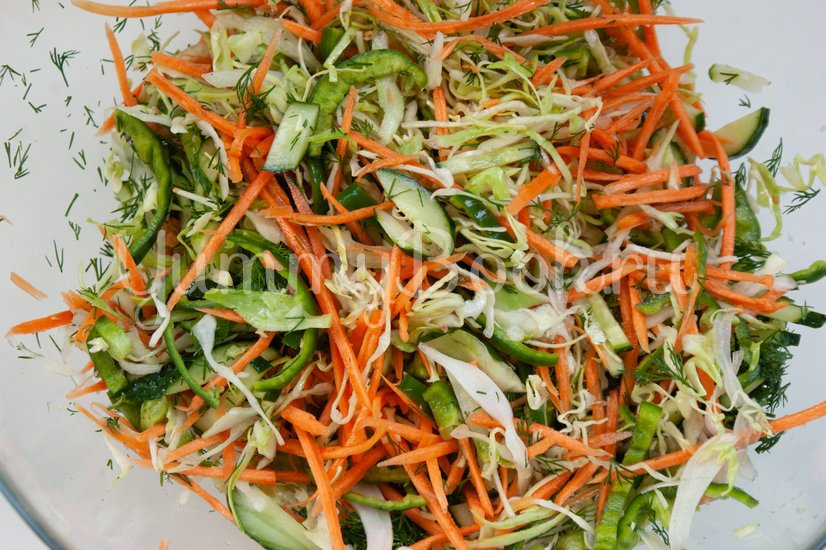 Острый овощной салат - шаг 7