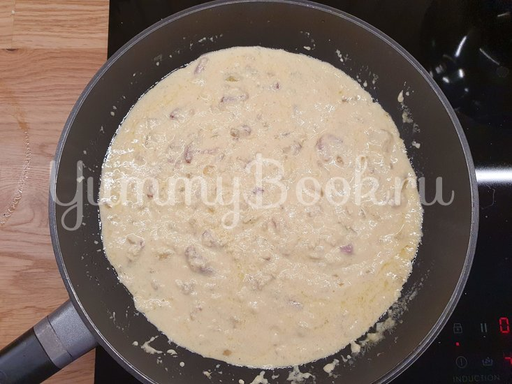Паста в сливочном соусе с беконом - шаг 8