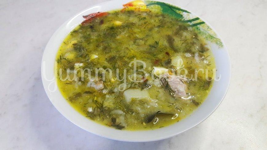 Зеленый борщ с щавелем, яйцами и рисом - шаг 19
