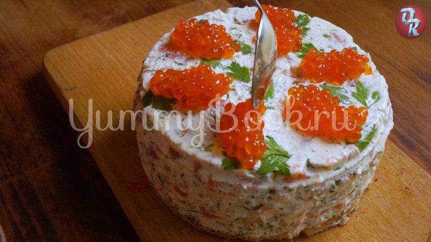 Творожный торт чизкейк без выпечки с семгой - шаг 9
