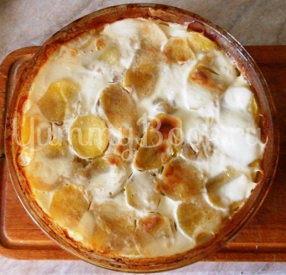 Картофель с молоком, запечённый в духовке - шаг 11