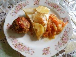 Картофель с молоком, запечённый в духовке