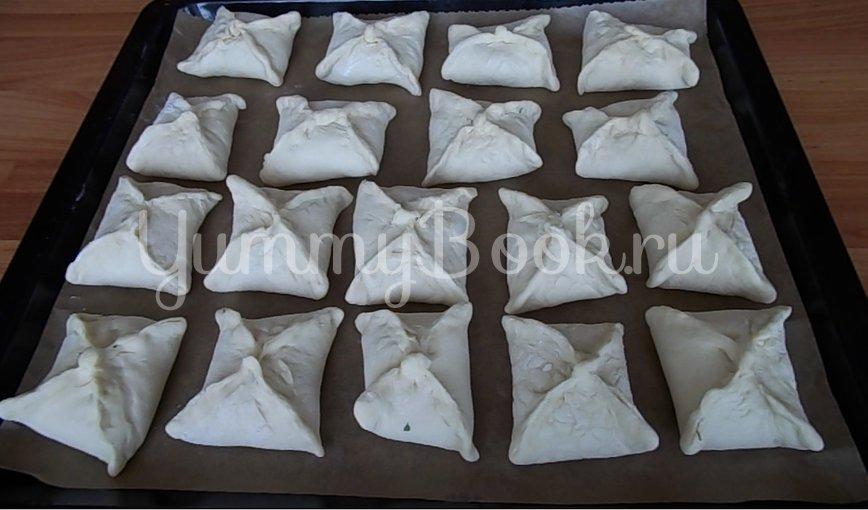 Пирожки из слоеного теста с начинкой из щавеля - шаг 3