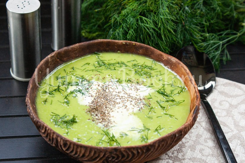 Холодный горохово-мятный суп - шаг 4