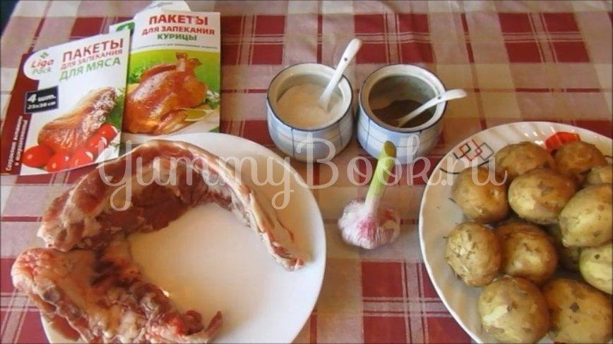 Молодая картошка со свиными рёбрышками в духовке - шаг 1