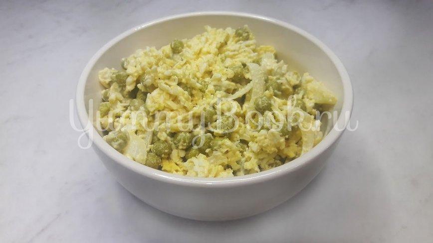"""Салат """"Чайка"""" с сыром, яйцами и горошком - шаг 13"""