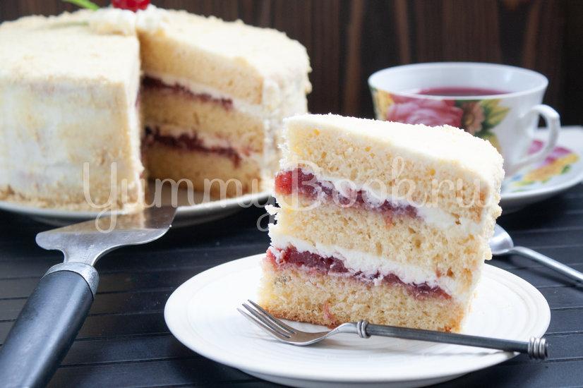Бисквитный торт с вишней и сырным кремом - шаг 19
