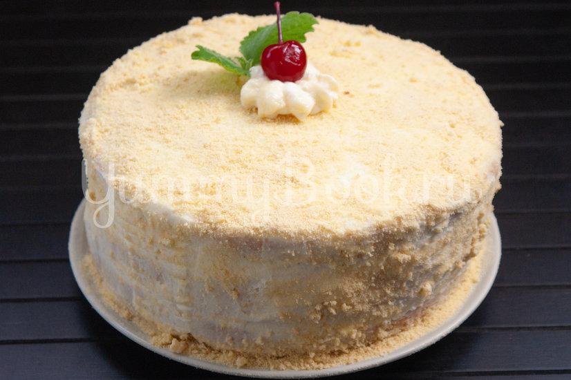 Бисквитный торт с вишней и сырным кремом - шаг 18