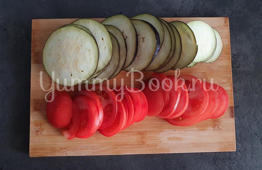 Галета с баклажанами, помидорами и беконом - шаг 3