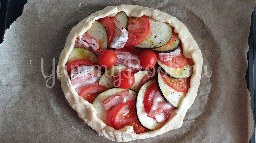 Галета с баклажанами, помидорами и беконом - шаг 8