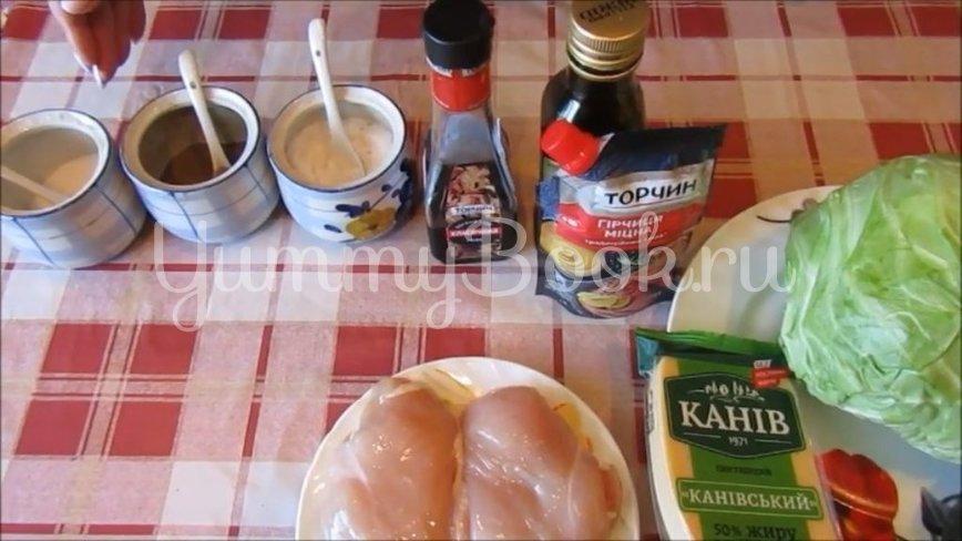 Салат с молодой капустой и курицей - шаг 1