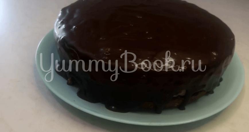 """Шоколадный торт """"Баунти"""" с кокосовой начинкой - шаг 18"""