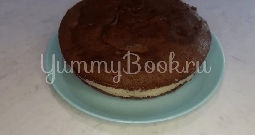 """Шоколадный торт """"Баунти"""" с кокосовой начинкой - шаг 15"""