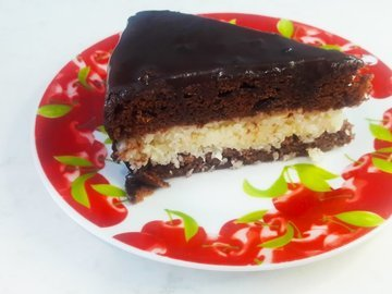 """Шоколадный торт """"Баунти"""" с кокосовой начинкой"""