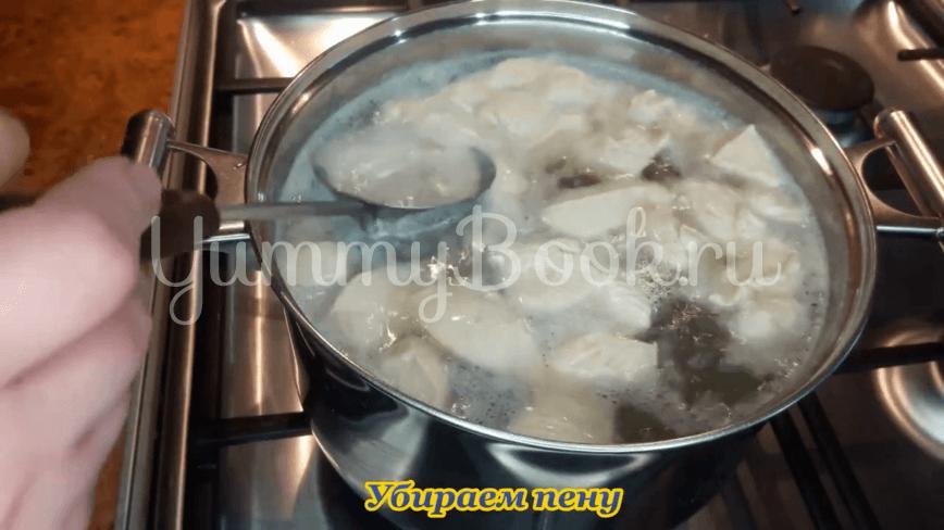 Гороховый суп с куриным филе - шаг 6