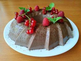 Шоколадный десерт из простой ряженки