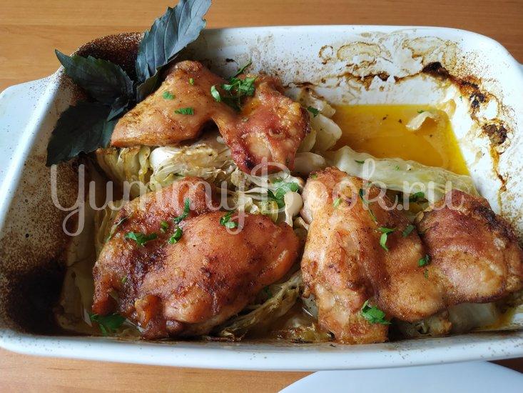 Капуста с куриными бёдрами - шаг 7