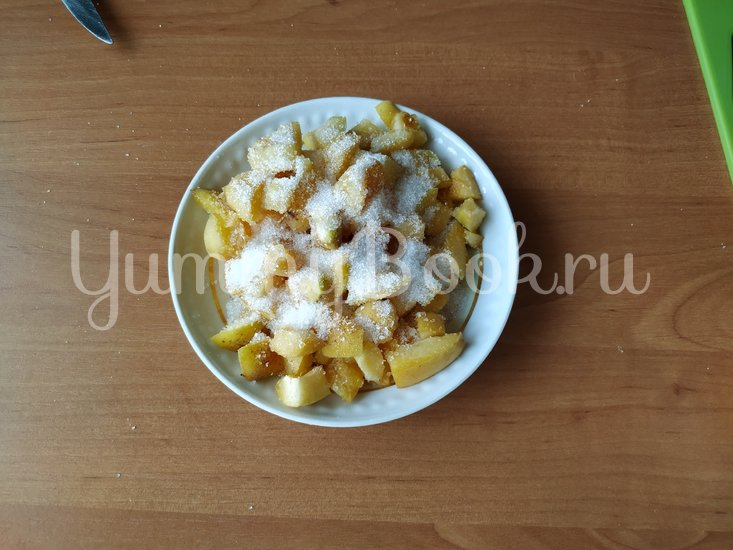 «Вареники» на сковороде с абрикосами - шаг 5