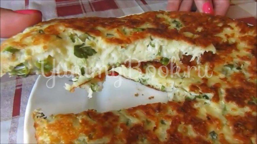Сырная лепёшка на сметане с зеленью - шаг 4