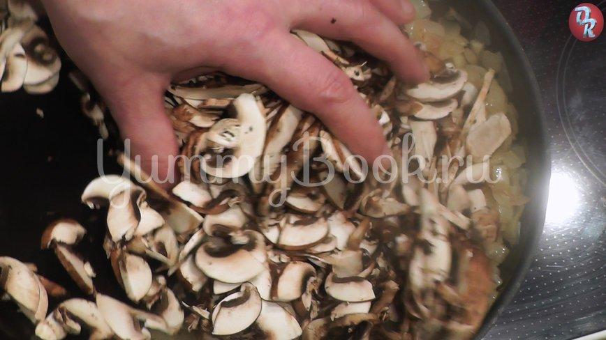Блинный торт с грибами и фаршем - шаг 3