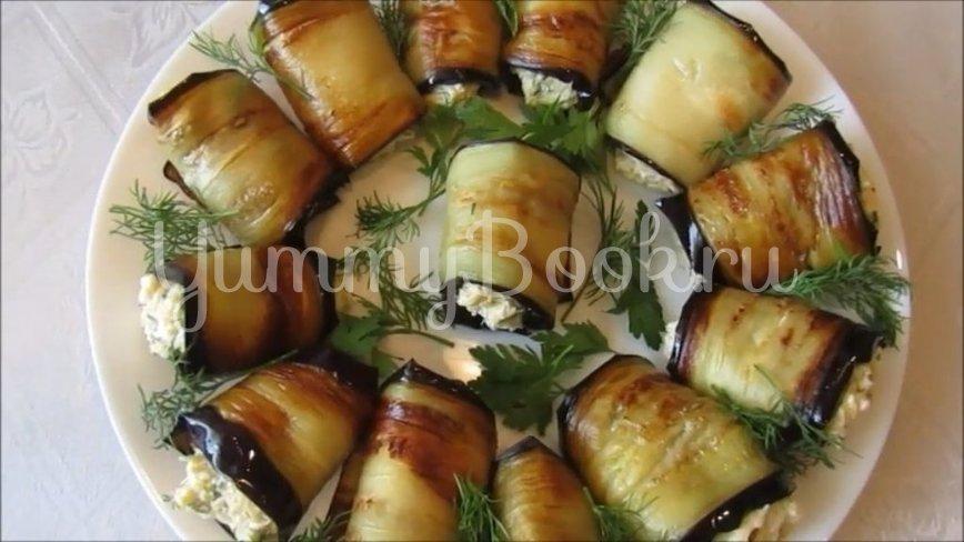 Рулетики из баклажанов с яйцом и сыром - шаг 3