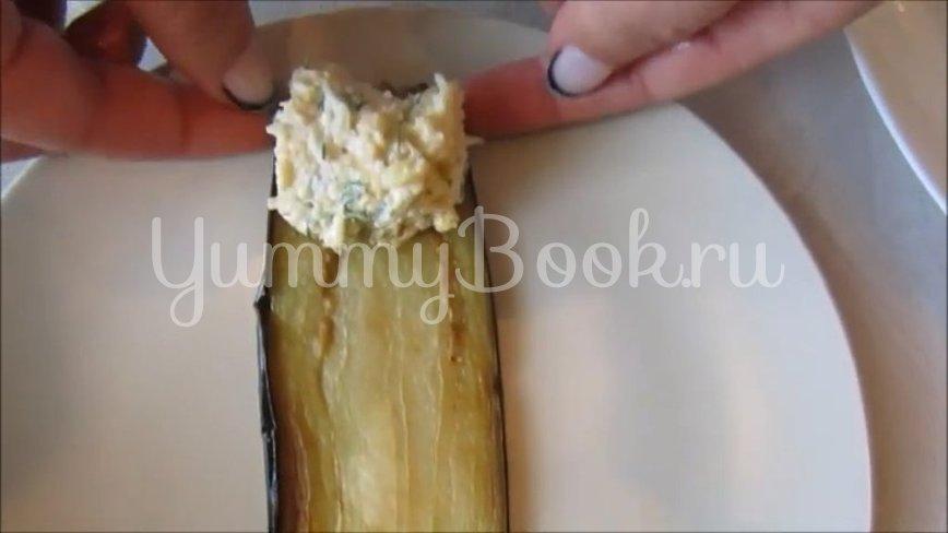 Рулетики из баклажанов с яйцом и сыром - шаг 2