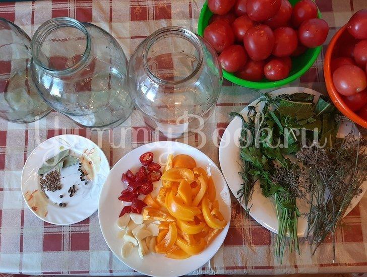 Маринованные помидоры на зиму - шаг 1