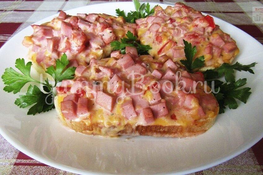 Горячий бутерброд со вкусом пиццы